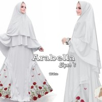 Hijab Fashion Terbaru gamis syari terupdate ARABELLA PUTIH, SALEM