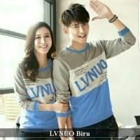 Lengan panjang couple berkualitas | baju kapel tebal | LVNUO biru
