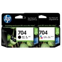 HP 704 Ink Cartridge Tinta Black/ Colour 100% Original