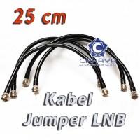 Kabel Jumper LNB 25cm Cable Parabola Dish C Ku S Band Rg6 f5 Jack f