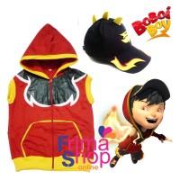 Paket Topi + Rompi Kostum Boboiboy Blaze