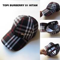 TOPI PRIA KEREN MURAH BURBERRY 01 HITAM (TOPI COWOK SNAPBACK)