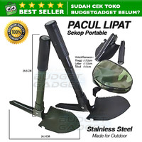 Pacul Sekop Lipat Military Portable Folding Multifunction Shovel
