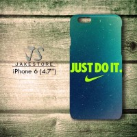 case iphone 4 4s Nike Just do it Wallpaper Blue hardcase