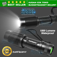 Taffware Senter LED 1000 Lumens Zoom Flashlight Waterproof