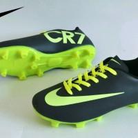 sepatu bola anak nike mercurial cr7 original premium black green 33-37
