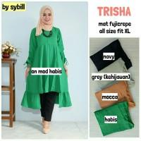 Kasual Tunik Atasan Blouse Wanita Baju Muslim TRISHA