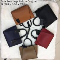Jual zara mini tote bag 2 jours jors office strap handbag basic ori import Murah
