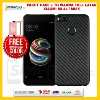 PAKET Casing HP Xiaomi Mi A1 Mi 5X Carbon Luxury Case Cover Crack Soft