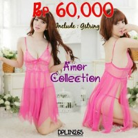 Jual Lingerie seksi rumbai pink tua (DPLIN265) By AMOR COLLECTION Murah