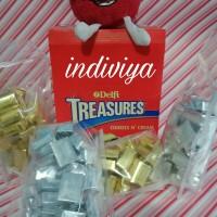 Jual Delfi treasure cookies n cream silver coklat golden almond gold 30pcs Murah