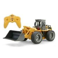 Rc Bulldozer Metal HUINA Toys 2,4 G HZ 6CH 1/18 Mainan remote control