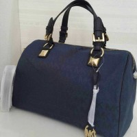 Michael Kors mk grayson satchel large signature navy