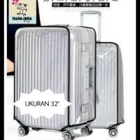 sarung koper plastik mika transparan luggage cover 32 inchi