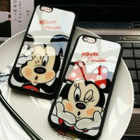 mickey minnie soft case casing hp iphone 5 5s se 6 6+ 7