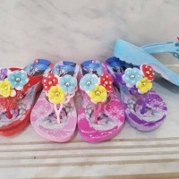sandal anak frozen 3 bunga