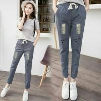 501 Anita celana denim soft jeans, celana panjang wanita ala korea