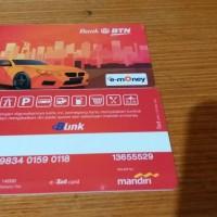 e toll card Bank BTN cs Bank mandiri bisa di isi di 2 bank saldo 50rb