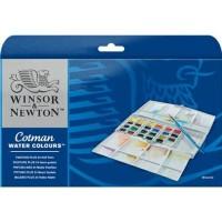 Jual Cotman Water Colours Painting Plus 24 Half Pan Set Winsor & Newton Murah