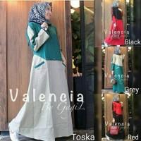 Baju hijab busui / Dres menyusui / Grosir gamis murah : Valencia Dress