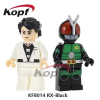 Kamen Rider KF8014 Kotaro Minami Ksatria Baja Hitam Brick Minifigure