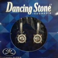 Anting Dancing Stone Emas Putih Kadar 75