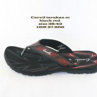 carvil tarakan sandal jepit pria black red
