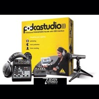 BEHRINGER PODCASTUDIO complete With USB and Audio Interface