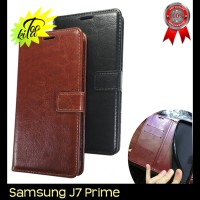 Samsung Galaxy J7 Prime Retro PU Leather Flipcase Luxury Wallet Cover