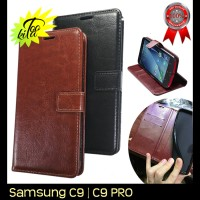 Samsung Galaxy C9 Pro Retro PU Leather Flipcase Luxury Wallet Cover