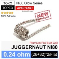 Harga authentic avocado juggernaut ni80 coil 0 24 ohm glow series rda | Hargalu.com