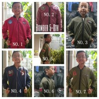 Jaket Bomber Parasut Anak Jacket Motor Anak Usia 5-8 Tahun Keren Murah