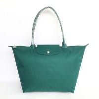 Tas Wanita Longchamp LePliage Neo Shopper LargeLonghandle -Dark Green