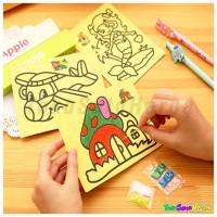 Jual Mainan Lukisan Pasir Warna 12 x 9 cm Mainan Edukasi sand Murah