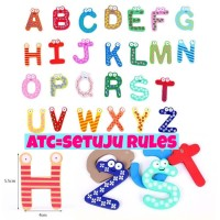 Jual magnet abjad alfabet huruf tempelan kulkas mainan edukasi anak lucu Murah