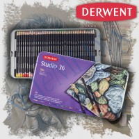 Derwent Studio Pencil 36 Tin - pensil warna