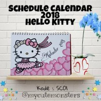 Jual Kalender 2018 / Kalender Meja / Kalender Lucu /Planner/Hello Kitty Murah
