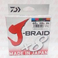 harga Senar Pe Daiwa J-braid X8 Pe 4 (60lb-300m) Multicolor Tokopedia.com