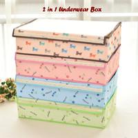 Alat Rumah Tangga 2 in 1 Underwear Box MOTIF (Banyak sekat, ut Ds