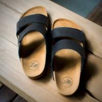 Sandal Kulit Pria Hitam Zapato Luxton