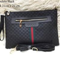 Tas Wanita Fashion Handbag Tas Import Gucci Clutch Emboss Berkualitas