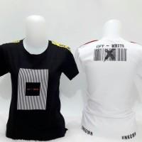 Kaos line off white unkown (black, white)kaos wanita