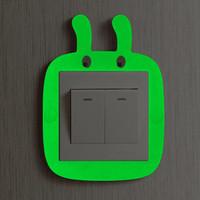 Jual Frame stiker saklar lampu silikon berwarna menyala Murah