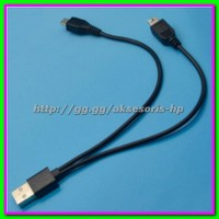 Dual Micro USB Header Data Splitter Charge Power Cable Male to Female