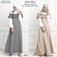 Baju Wanita Muslim Pakaian Hijab Ziska Maxi Tunic Blouse Dress Gamis