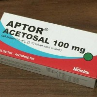 Aptor 100 mg 1 box acetosal acetyl salicylate seperti cardioaspirin