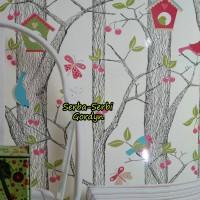 Wallpaper Anak Burung Hantu Sangkar Pink 5071