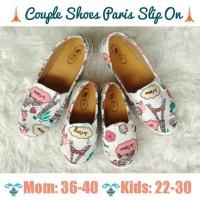Jual Couple Shoes ibu dan anak slip on paris TERBARU Murah