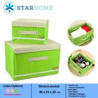 Kotak Penyimpanan Pakaian - Storage Box - Kotak Baju Besar Hijau