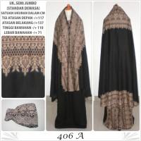 Jual Mukena bali motif batik katun rayon mukena dewasa 406A semijumbo hitam Murah